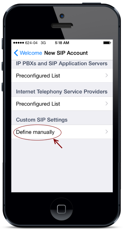 jetphone ios setting